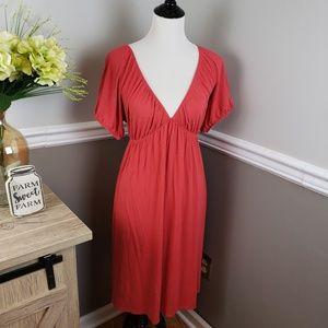 GAP Empire Waist Everyday Dress XL Coral